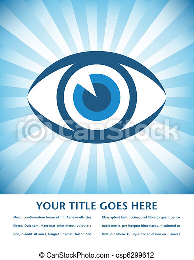 Striking eye sunburst design. - csp6299612