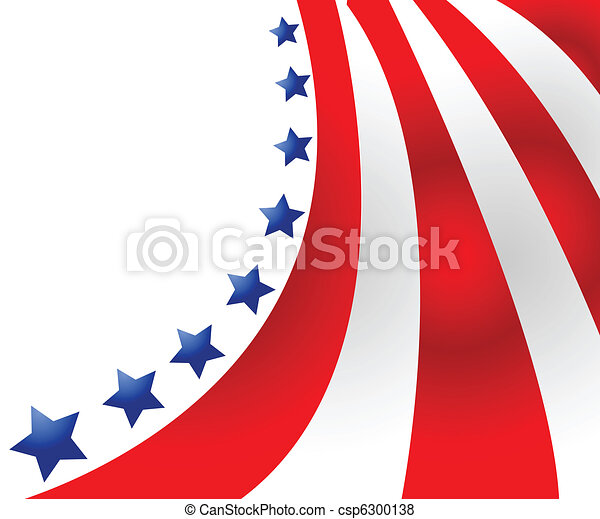 USA flag in style vector  - csp6300138