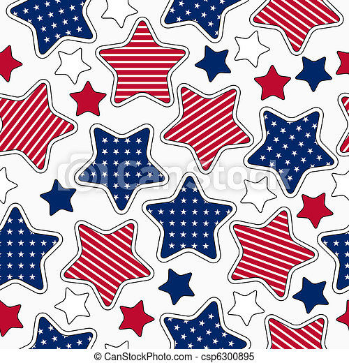 Stars and stripes pattern - csp6300895