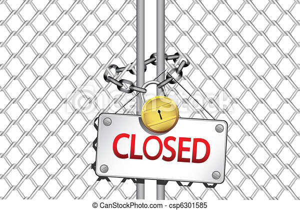 clipart vector of closed illustration of padlock with