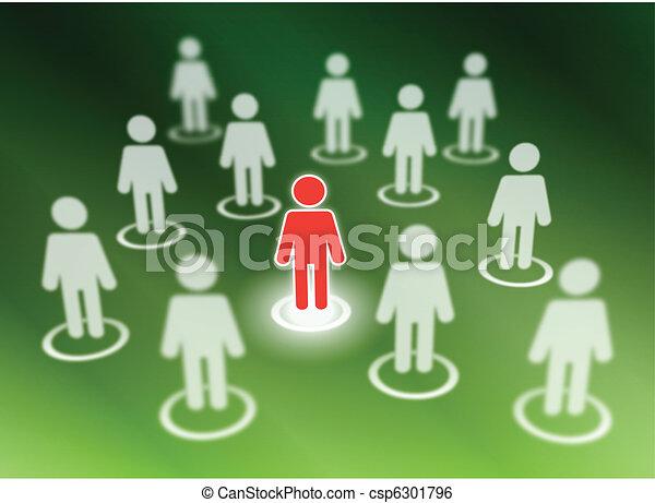Social network members - csp6301796