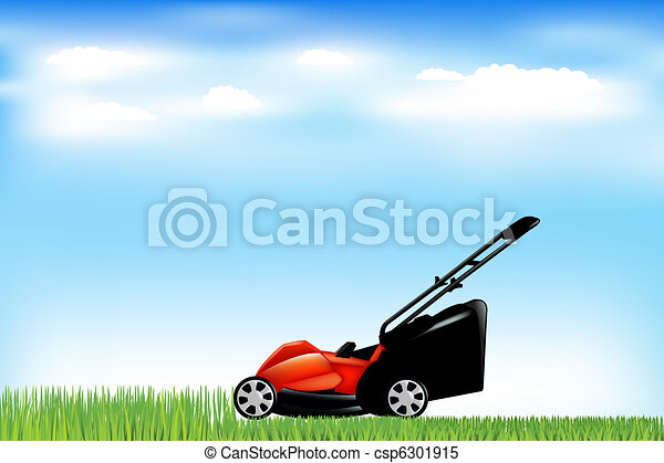 Lawnmower With Grass - csp6301915