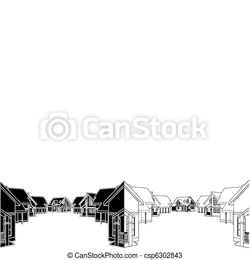 Residential Houses - csp6302843