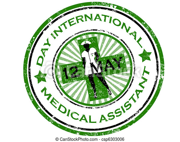 Day international medical assistant stamp - csp6303006