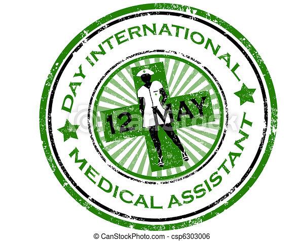 Day international medical assistant stamp - csp6303006