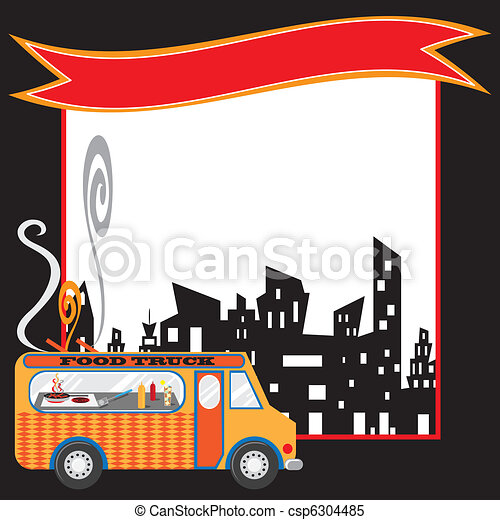 Food Truck Poster and banner - csp6304485