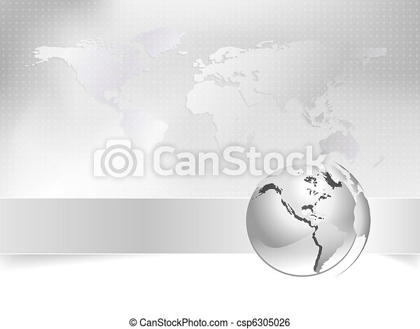 Globe, world map - business concept - csp6305026