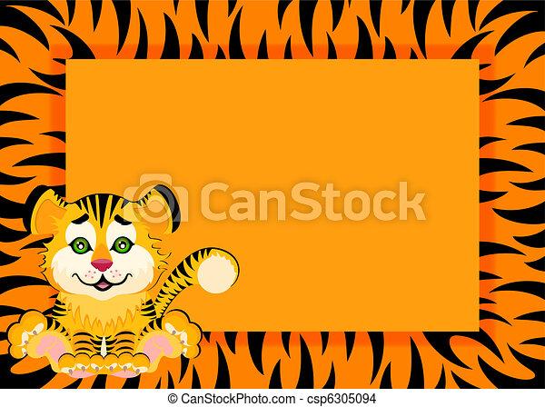 Lovely tiger toddler - csp6305094