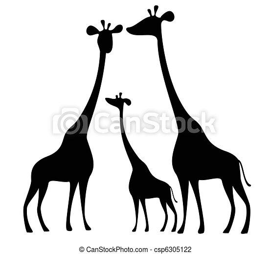 Giraffe Silhouette Silhouettes of Giraffes