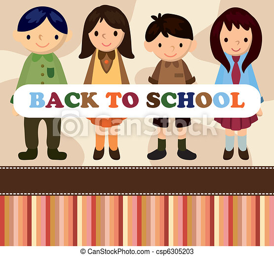 cartoon student card/back to school - csp6305203