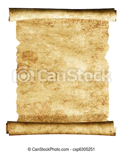 3d scroll of old parchment - csp6305251