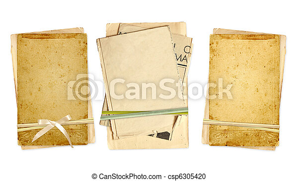 Collection old cards for scrapbooking - csp6305420