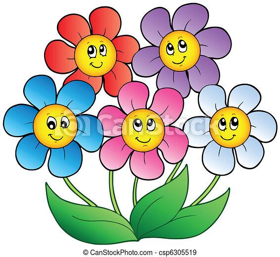 Caricaturas de flores - Imagui