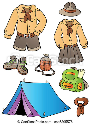 Scout clothes and gear collection - csp6305576