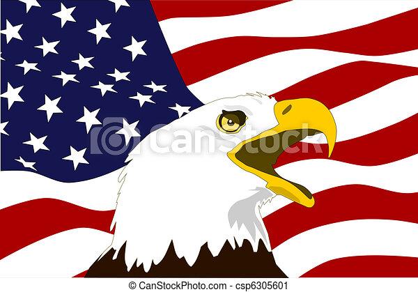 American flag vector clip art  Eagle With Flag Clip Art