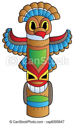 Illustrazioni vettoriali di alto indiano totem - Totem palo modelli per bambini ...