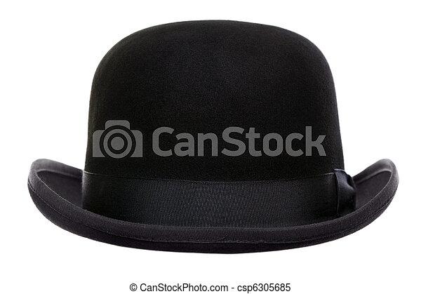 Bowler hat cut out - csp6305685