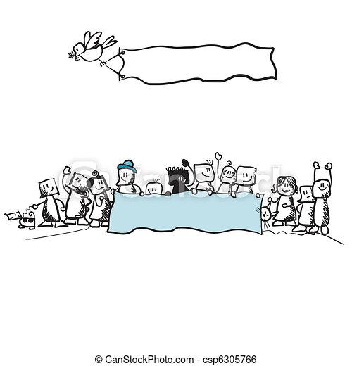 public protest - illustration  - csp6305766