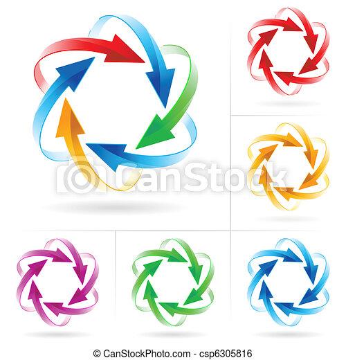 Set of arrow circles - csp6305816