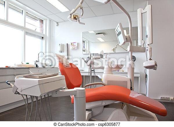 dentaire, salle, vide - csp6305877