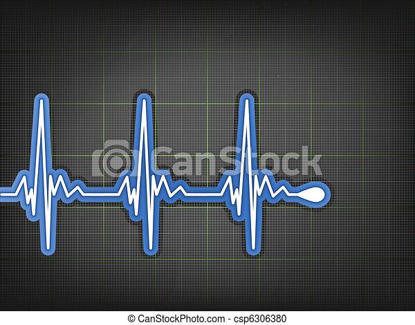 ECG Electrocardiogram monitor. EPS 8 - csp6306380