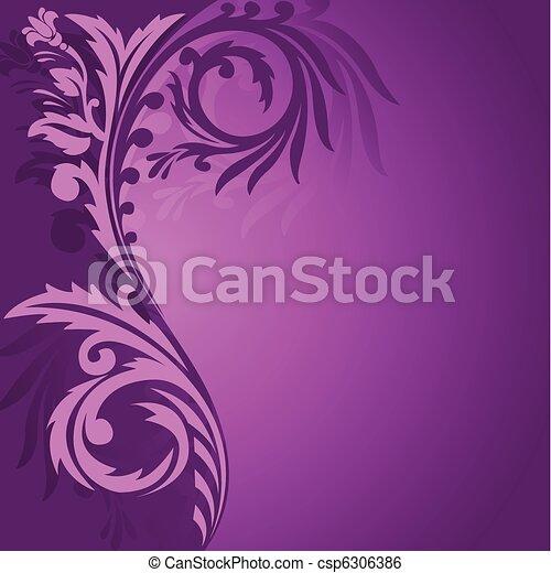 Purple asymmetrical ornament - csp6306386
