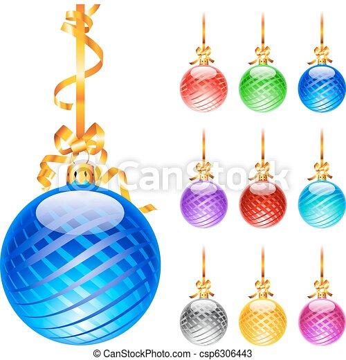Christmas colourful balloons - csp6306443