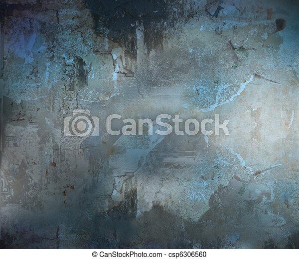 Dark Grunge Abstract Textured Background - csp6306560