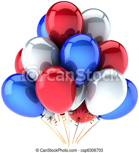 Independence Day colored balloons - csp6306703