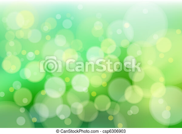 Green defocus lights - csp6306903