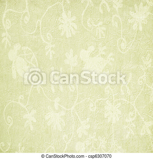 Pale Floral Pattern on Paper or Fabric  - csp6307070