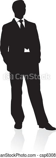 Business man in suit - csp6308189