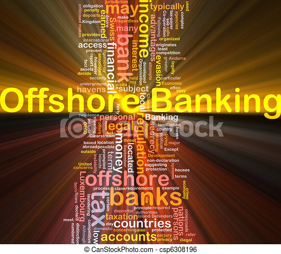 Offshore banking background concept glowing - csp6308196