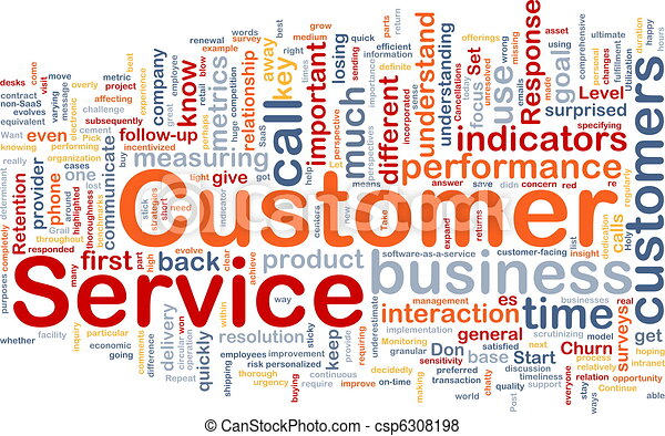Customer service background concept - csp6308198