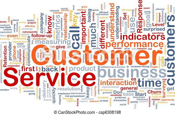 Customer service background concept - csp6308198