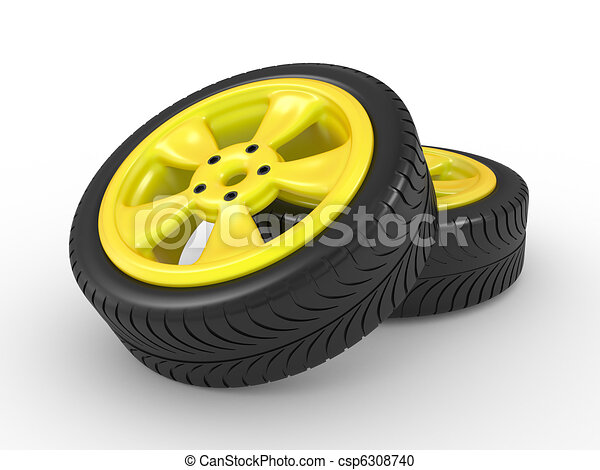 3D automobile wheel - csp6308740