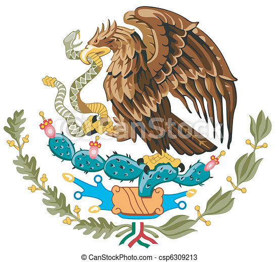 The national arms of Mexico - csp6309213