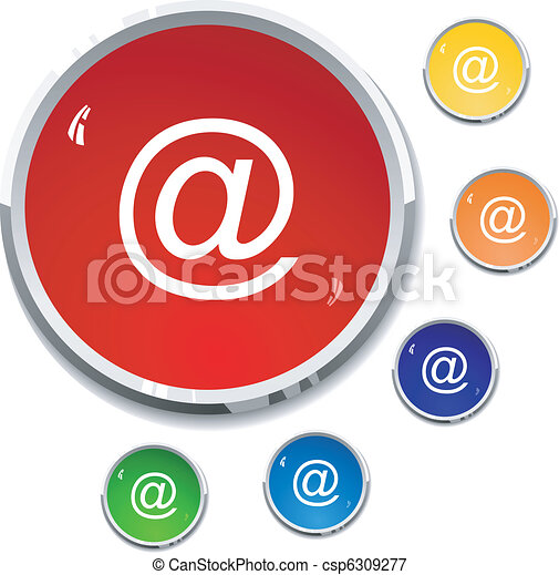 colored buttons e-mail - csp6309277
