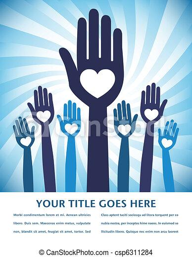 Caring loving hands design. - csp6311284