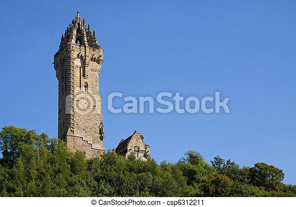 Wallace Monument, Scotland - csp6312211