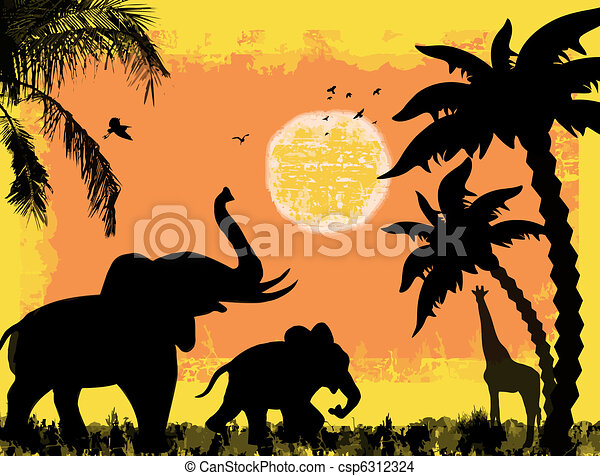 African safari theme - csp6312324