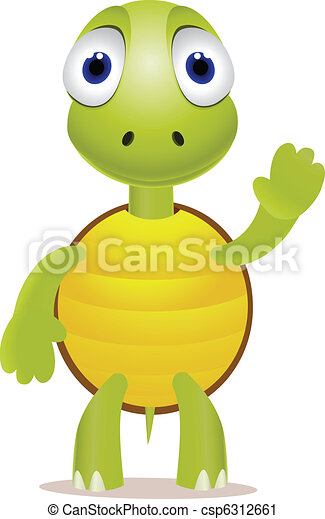 Funny little turtle - csp6312661