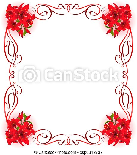 Stock illustrationen von sch ne rahmen lilie sch ne for Moderne bilder mit rahmen