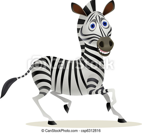 Cartoon Zebra Step by Step Drawing Lesson  howtodraw