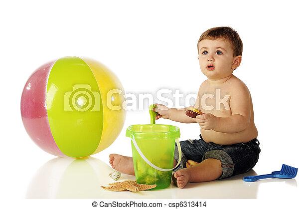 Beach Bum Baby - csp6313414