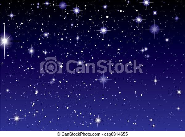 Space view dark star sky - csp6314655