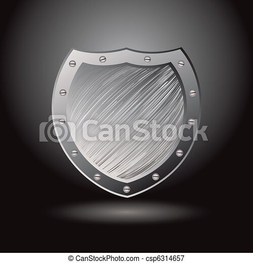 Metal brushed shield secure - csp6314657
