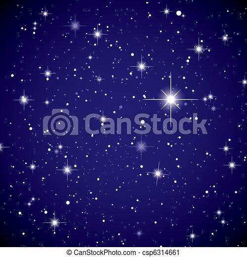 clip art vecteur de espace vue toile ciel tincelant nuits ciel csp6314661. Black Bedroom Furniture Sets. Home Design Ideas