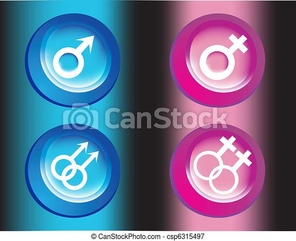 Male and female symbols - csp6315497