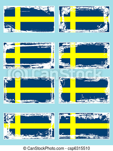 Sweden flags - csp6315510
